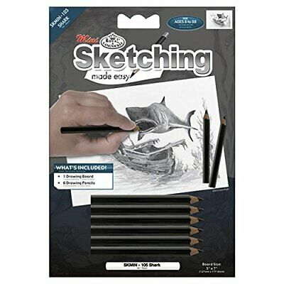 ROYAL BRUSH Mini Sketching Made Easy Kit, 5 by 7-Inch, Shark#99