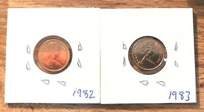 1982 & 1983 1/2p Half New Pence Coin - Uncirculated BUNC from Date Sets