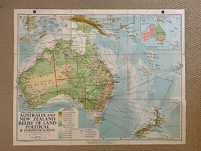 Philips Comparative Wall Atlas Australia And New Zealand 1962