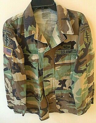 XXSHORT VCG US Military ARMY Cotton Ripstop BDU FIELD JACKET COAT Woodland MED