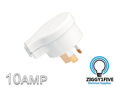 Clipsal Side Entry 10A 3 Pin Male Plug Top (418S-WE)  240V - White