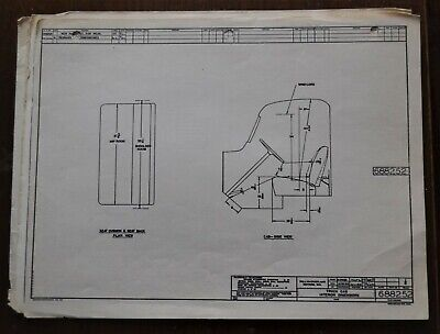 VTG 1954 Willys Overland Motors Jeep Truck Cab Mechanical Drawing