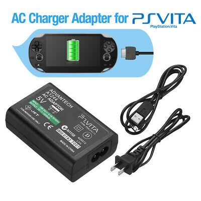 Home Wall Charger AC Adapter Power Supply USB Data Cable for Sony PS Vita PSV US
