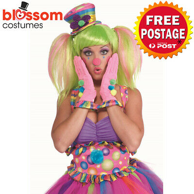 AC925 Circus Sweetie Clown Ruffle Gloves Novelty Party Funny Costume Accessory