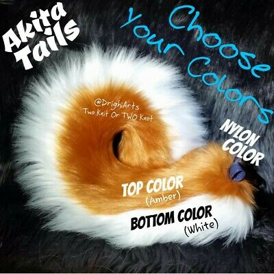 DESIGN YOUR OWN AKITA TAILS! Cosplay - Dress Up - Fursuit - Costume ACCESSORIES