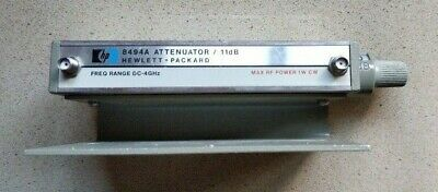 HP Agilent 8494A DC-> 4 GHz 11 dB Step Attenuator, OPT 002 / TESTED !!