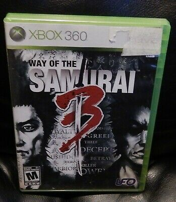 Way of the Samurai 3 Microsoft Xbox 360 COMPLETE VIDEO GAME