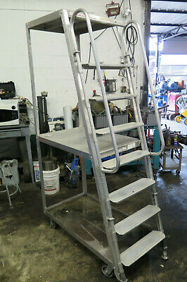 Rol-Away Truck Rolling Handrail Ladder Work Cart