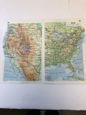 Map 1985: USA Canada Mexico & The Caribbean 35 Years Old Print Complete Maps