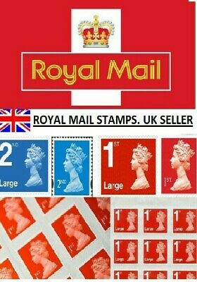Royal Mail Stamps 1st 2nd Class Genuine Postage Stamps - Standard / Large Stamps
