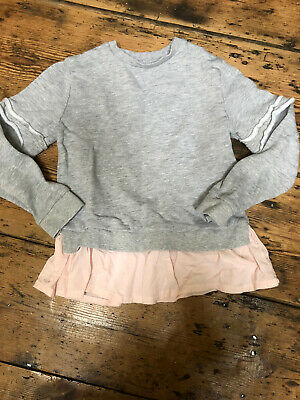 Girls Sweatshirt Age 8 Years Grey