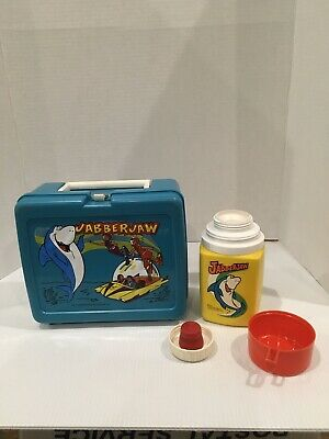 "Thermos 1977  ""Jabberjaw"" Lunchbox Hanna Barbera Shark With Thermos"
