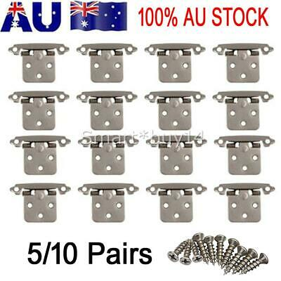 5/10 Pairs Self Closing Flush Mount Cabinet Door Hinges Variable Overlay