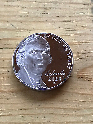 2020 S Proof Nickel Deep Cameo Directly From The Mint Tube