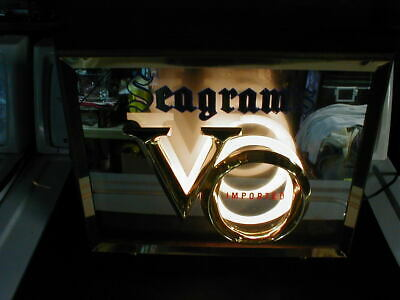 Vintage Seagram's V.o. Lighted Mirror Advertising Counter Sign Display