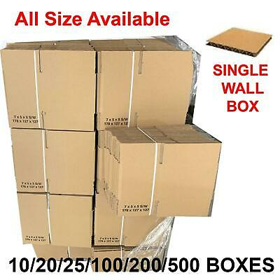 NEW SINGLE WALL LARGE CARDBOARD BOXES House Removal Moving Packing Storage UK