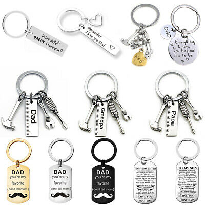 Fathers Day Gift For Dad Daddy Father Birthday Anniversary Keyring Chain Present