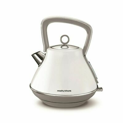 Morphy Richards Evoke White Pyramid Quick Boil Kettle (100109). 3KW. New. 2 Year