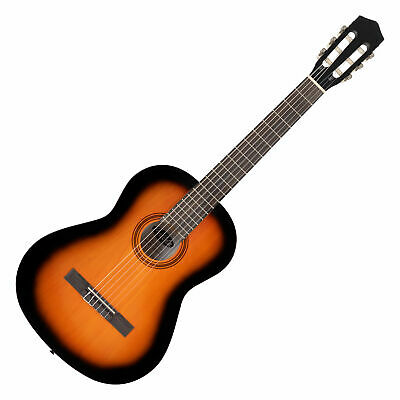 Beginner Student Children Size 4/4 Classic Acoustic Guitar Nylon String Sunburst
