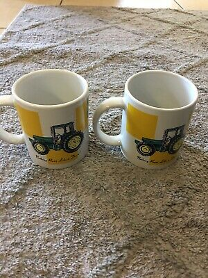 2 Ea. John Deere Coffee Mugs Preowned
