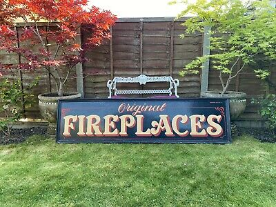 Large Vintage Hand Painted Shop Sign