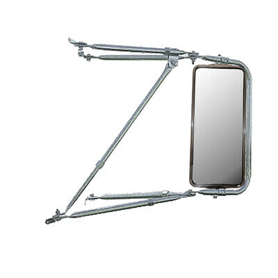 Adjustable Chrome Mounting Assembly w/ Stainless Steel West Coast Mirror