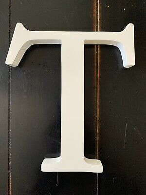 """POTTERY BARN KIDS Wall Letter - 8 inches White Color - Letter """"T"""" ($10)"""