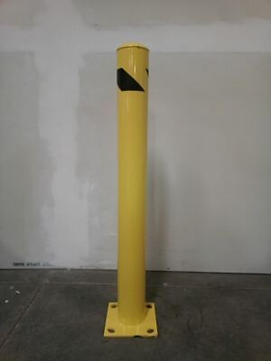 Brand Name 1GUD6 42 In H 4-1/2 In Outside Dia Safety Yellow Fixed Bollard