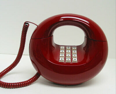 Red Western Electric Sculptura TouchTone Desk Telephone - Full Restoration