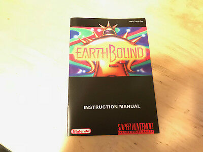 Super Nintendo SNES Earthbound custom regular size MANUAL ONLY!