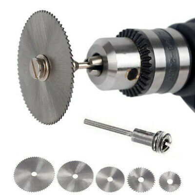 HSS Circular Wood Cutting Saw Blade Discs + Mandrel Drill For Rotary Home Tool