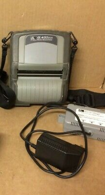 Zebra QL420 Plus Wireless Bluetooth Thermal Label Printer with Charger & Battery