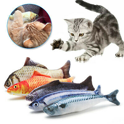 5 PCS Realistic Interactive Fish Cat Kicker Crazy Pet Toy Gift Catnip Toys USA