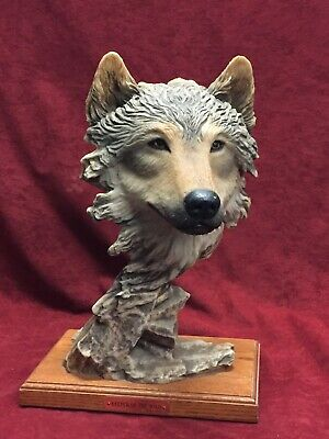 """KEEPER OF THE WILD"" Wolf Sculpture by Stephen Herrero LE 1399/2500"