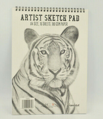 A4 / A5 Size Sketch Pad White Drawing Artist Paper on Spiral Book
