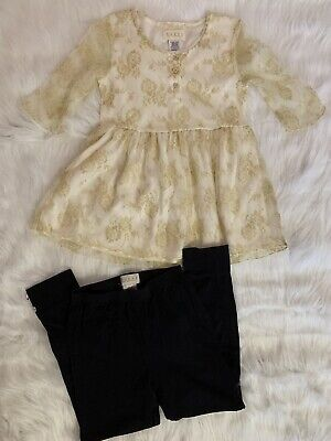 GUESS Girls Kid Set Outfit Top Leggings Size L (6X)