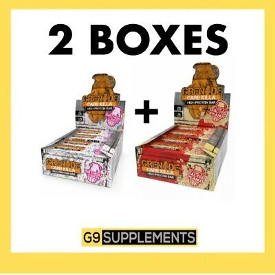 2x GRENADE CARB KILLA BARS 12x60g PROTEIN BARS (24 bars, 2 boxes) - ALL FLAVOURS