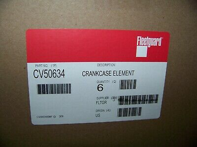 Fleetguard Crankcase Element Part # CV50634