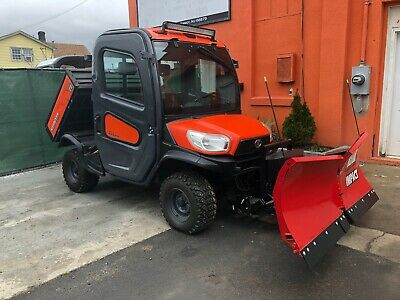 Kubota Rtv X-1100C Hydraulic, Brand New Western V Plow, Radio, Led Light, Rear
