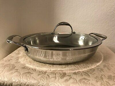NIB Princess House Heritage Tri-Ply Stainless Steel 4-Qt. Oval Casserole (5731)