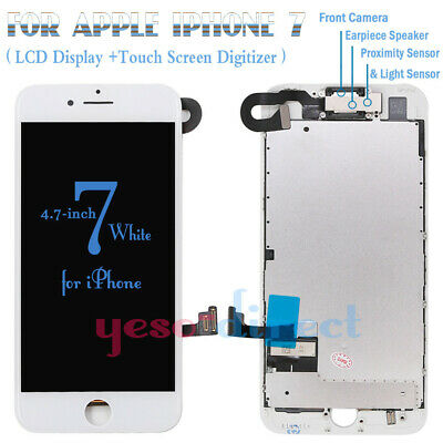 For iPhone 7 Screen LCD Display Touch Digitizer with Camera Replacement White