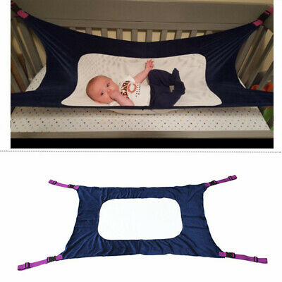 Baby Folding Oxford Cloth Cot Bed Travel Playpen Hammock Holder Portable Navy