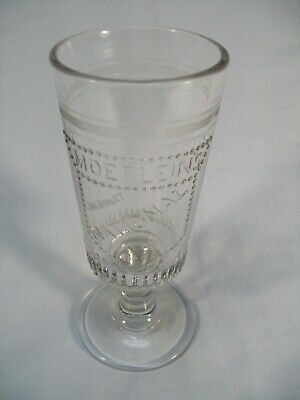 Vintage Christian Moerlein Brewing Co Advt National Lager Beer Glass Excl