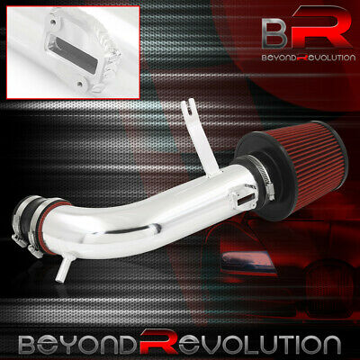 """Short Ram Air Sri Intake Black Piping W// 3/"""" Red Cone Filter For 13-18 Altima"""