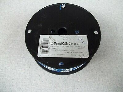 NEW 1000 ft, General Cable XCWF-1P24-W/BL-S-GCC Cross Connect Wire 1 Pair 24awg