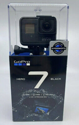 New & Sealed GoPro HERO7 Black 12 MP Waterproof 4K Camera Touch Screen CHDHX-701
