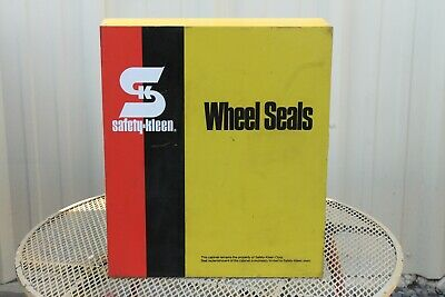 ~~~ Vintage Safety Skleen Wheel Seals Auto Cabinet With Oil Seals In Boxes ~~~