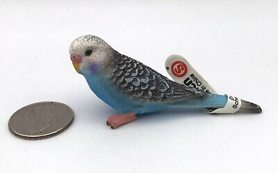 NEW WITH TAG Schleich Green Parakeet Bird Budgerigars Budgy Retired 14408