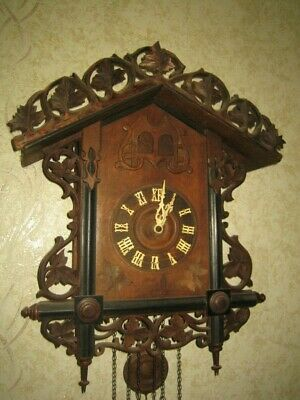 Large Antique Quail Cuckoo Clock
