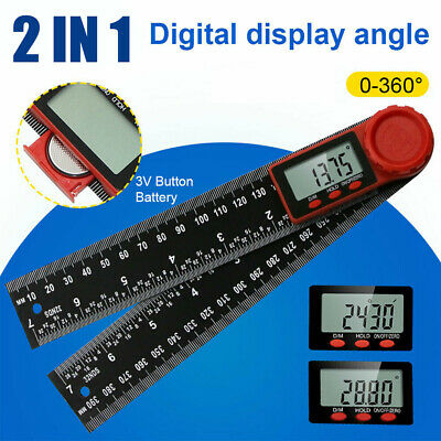 """7in"""" 2in1 200mm Digital-Protractor Angle Finder Ruler Crown Trim Woodworking"""
